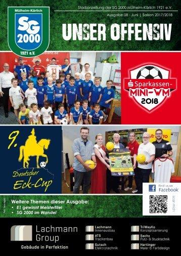 """Stadionheft """"Unser Offensiv"""" Ausgabe Juni 2018"""