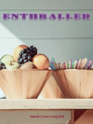 Enthralled Magazine Vol 1 Issue - Savour