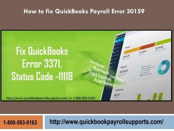 Fix QuickBooks Payroll Error 30159 Call 1-800-593-0163