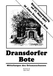 Dransdorfer Bote - Ortsausschuss Bonn-Dransdorf