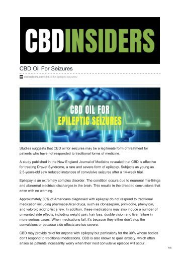 CBD Oil For Seizures