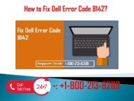 1-800-213-8289 Fix Dell Error Code 8142