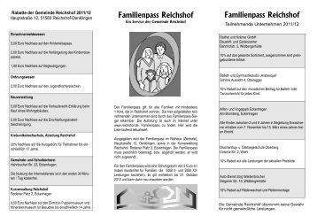 Familienpass Reichshof Familienpass Reichshof - Gemeinde ...