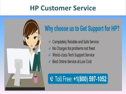 HP Customer Service Number 1-800-597-1052