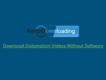 Download Dailymotion Videos without Software