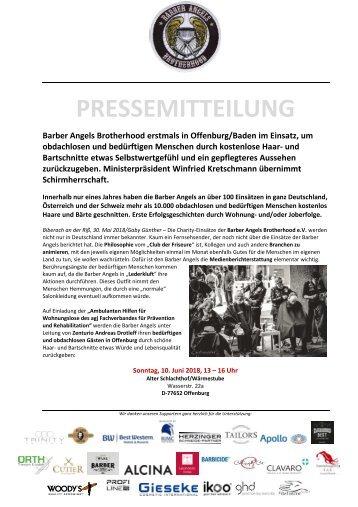 Barber Angels erstmals in Offenburg am 10. Juni 2018