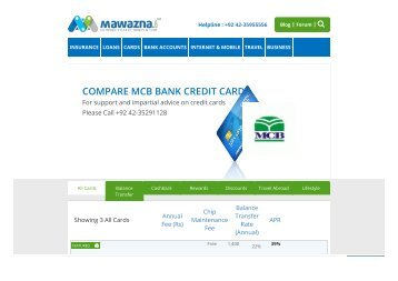 MCB credit card offers