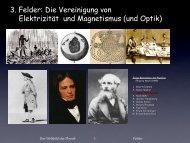 3. Felder: Die Vereinigung von Elektrizität und Magnetismus (und ...