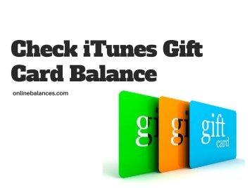Check iTunes Gift Card Balance