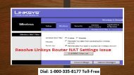 18003358177 Resolve Linksys Router NAT Settings Issue