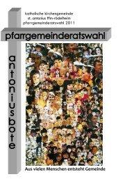 Ausgabe Pfarrgemeinderatswhal 2011 - St. Antonius Frankfurt ...