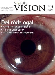 Nordic Vision - nr 5 2006 - Sveriges Kontaktlinsförening