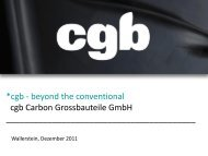 *cgb - beyond the conventional cgb Carbon Grossbauteile GmbH