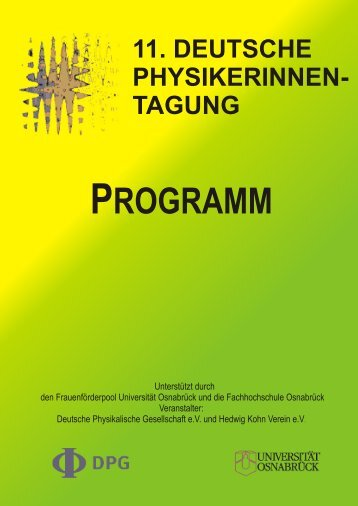 11. DEUTSCHE PHYSIKERINNEN - Physikerinnentagung