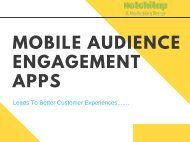 Mobile Audience Engagement Apps For A Better Customer Relationship