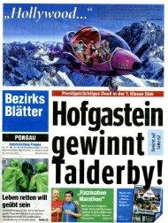 Pressebericht Bezirksblätter - Werbeagentur Algo
