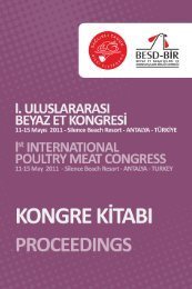 I. Uluslararası Beyaz Et Kongresi