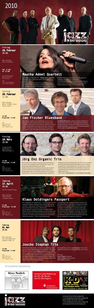 Kartenvorverkauf - Jazzverein Bad Saulgau