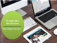 Fix Apple Mac Security Error