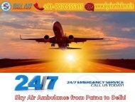 Obtain the Best Air Ambulance Service in Patna by Sky Air Ambulance