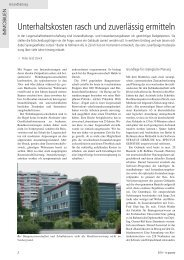 Unterhaltskosten (pdf) - Basler & Hofmann