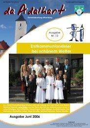 Erstkommunionsfeier bei schönem Wetter - Marktgemeinde ...