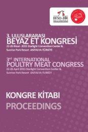 3. Uluslararası Beyaz Et Kongresi