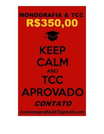 Aceitamos encomendas de tcc e monografia por R$350,00