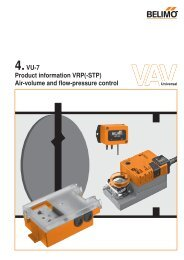 4.VU-7 Product information VRP(-STP) Air-volume and  flow - Belimo