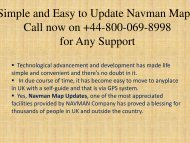 Simple and Easy to Update Navman Maps, Call now on +44-800-069-8998 for Any Support