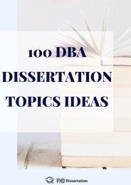 Dba dissertation no