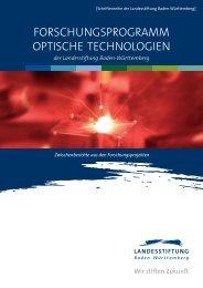 forschungsprogramm optische technologien - Baden-Württemberg ...