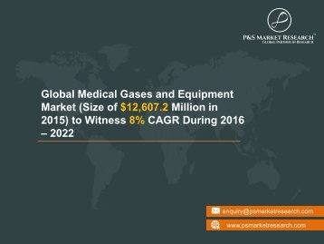 Medical Gases and Equipment Market Research Report