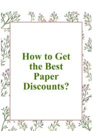 How to Get the Best Paper Discounts