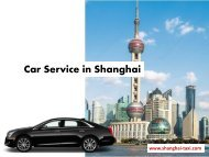 Car Hire in Shanghai