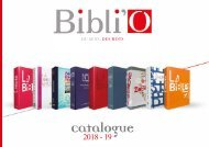 CATALOGUE BIBLI'O 2018