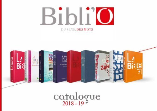 CATALOGUE BIBLI'O 2018