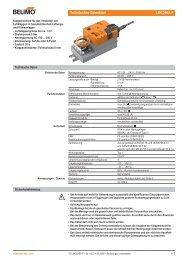 Technisches Datenblatt LMC230A-F - Belimo