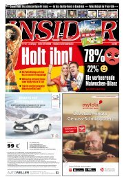 INSIDER Osnabrück // Juni 2018 // No. 419