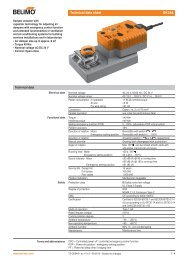 Technical data sheet GK24A - Belimo