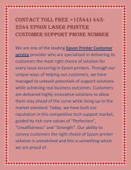 Contact Toll Free +1(844) 443-2544 Epson Laser Printer Customer Support Phone Number.output