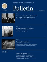 Bulletin - American Academy of Arts and Sciences