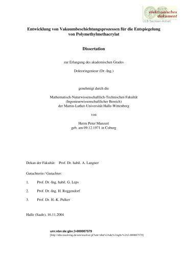 uni halle bibliothek dissertationen