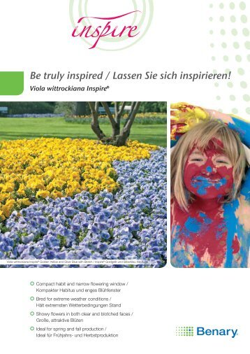 Inspire Leaflet, DIN-A4 - Benary