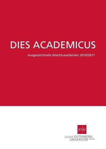Ausgezeichnete Abschlussarbeiten 2010/2011 - Johannes ...