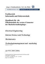 Fachbereich Informatik und Elektrotechnik Handbuch für die ...
