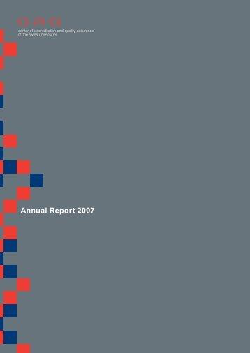 Bericht der Revisionsstelle - OAQ Organ für Akkreditierung und ...