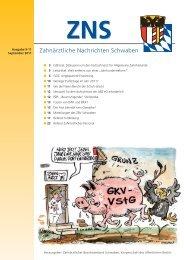 Zahnärztliche Nachrichten Schwaben 9/2011 - Zahnärztlicher ...