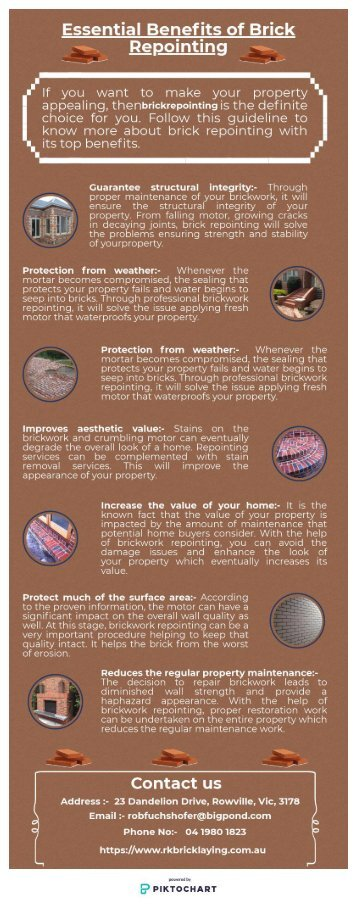 Essential Benefits of Brick Repointing - Infographic