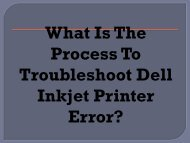 Easy Steps To Troubleshoot Dell Inkjet Printer Error